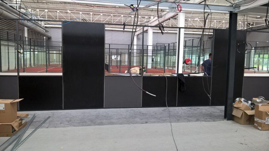 Construction des terrains de badminton et de padel au Shaft